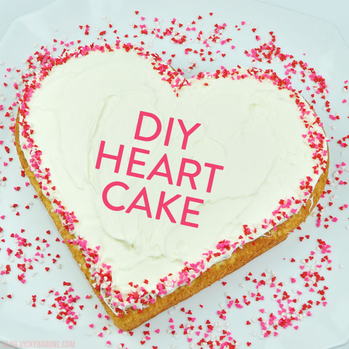 Heart-Shaped Cake for Valentine's Day