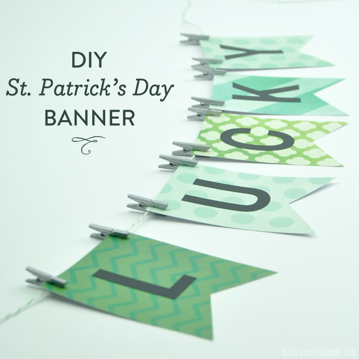 DIY Lucky in Love Banner