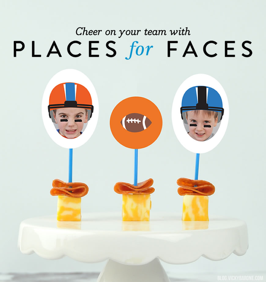 Super Bowl Snacks with Places for Faces!