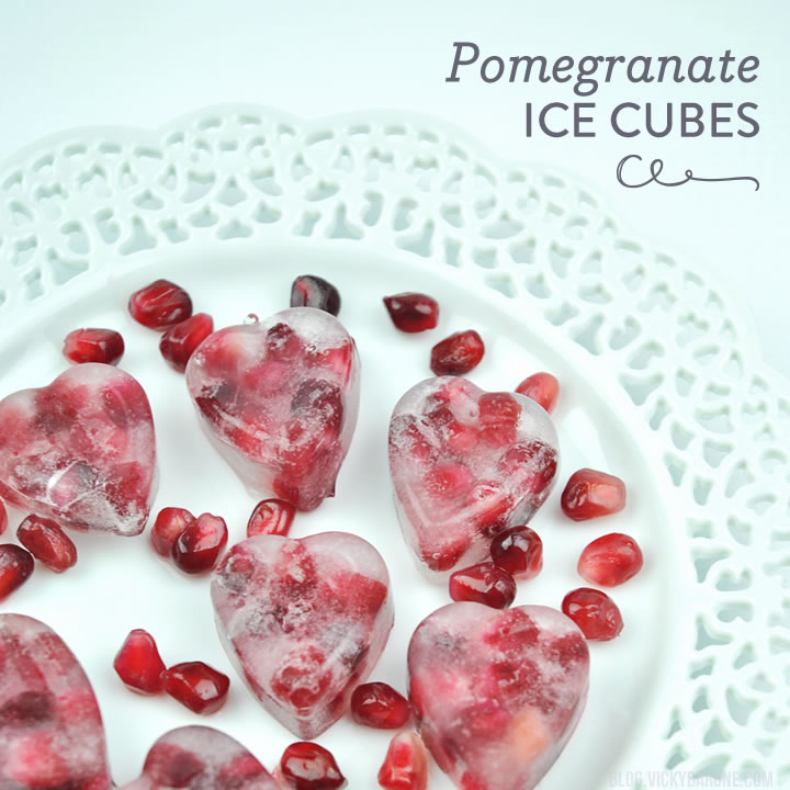 Pomegranate Ice Cubes