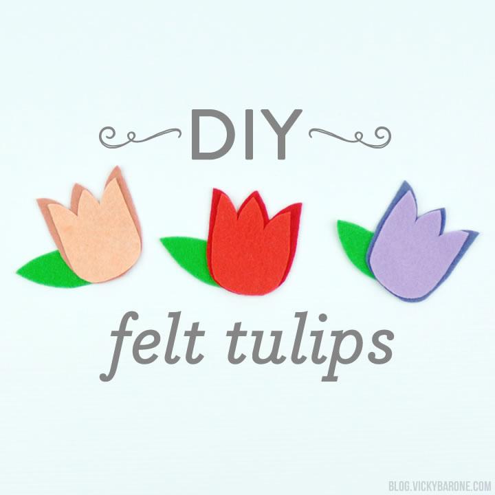 DIY Felt Tulips