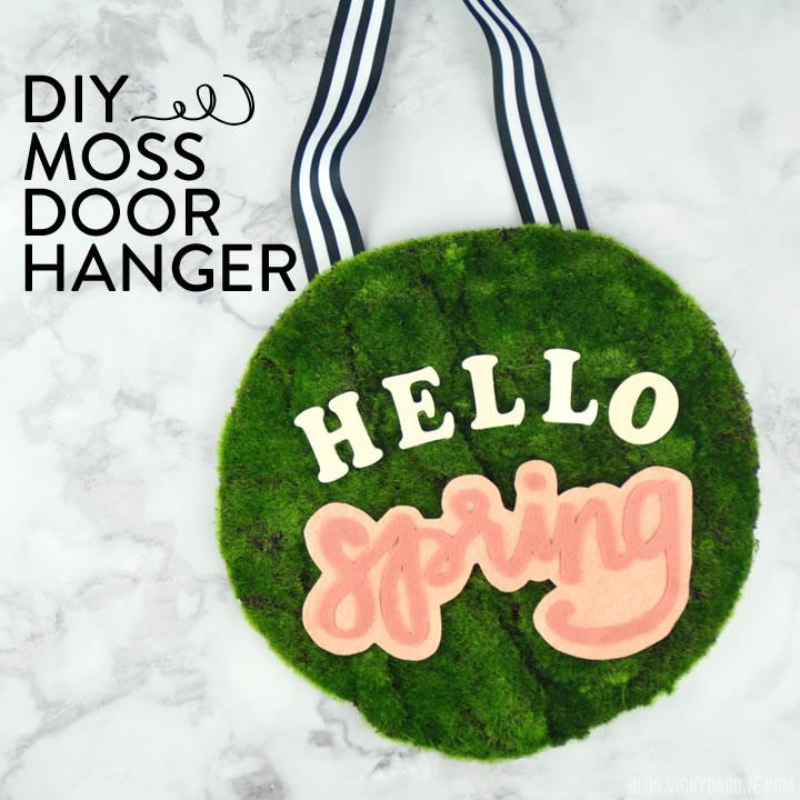 DIY Moss Door Hanger