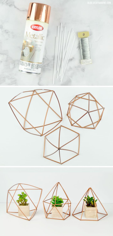 DIY Geometric Planters   Vicky Barone