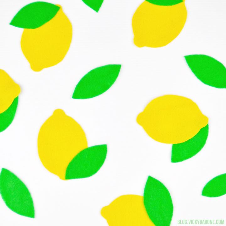 DIY Felt Lemons | Vicky Barone
