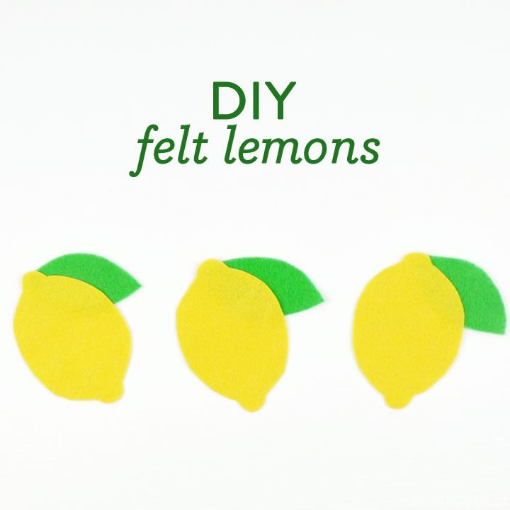 DIY Felt Lemons