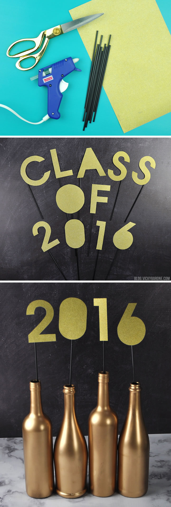 Class of 2016 Graduation Party Centerpiece | Vicky Barone