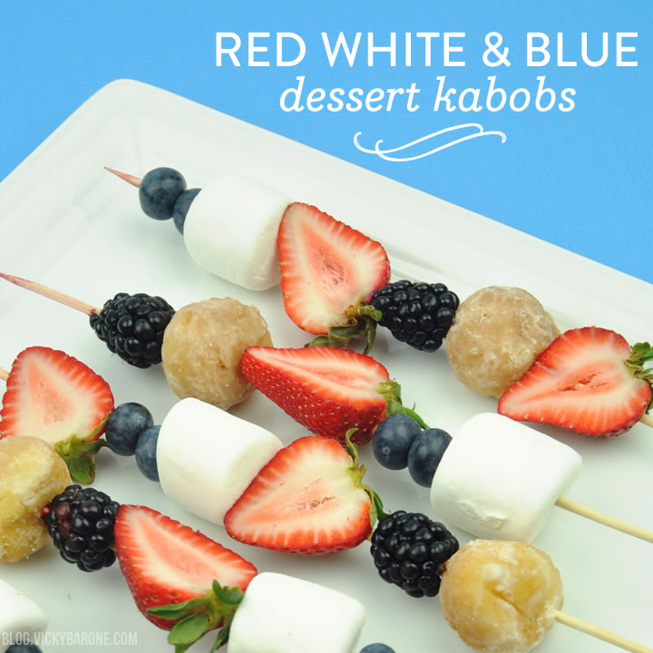 Red White & Blue Dessert Kabobs