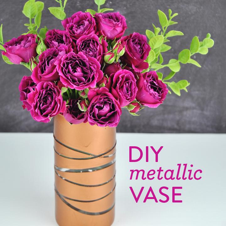 DIY Metallic Vase