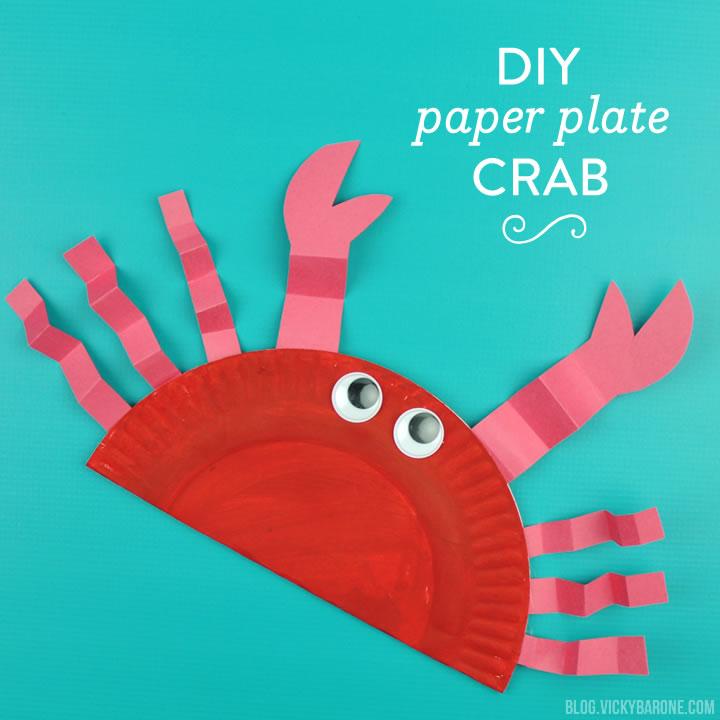 DIY Paper Plate Crab