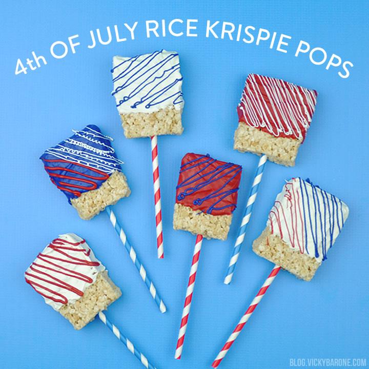 4th of July Rice Krispie Pops