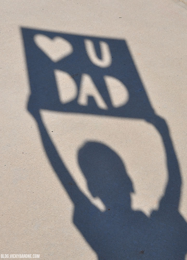 Father's Day Shadow Sign DIY | Vicky Barone