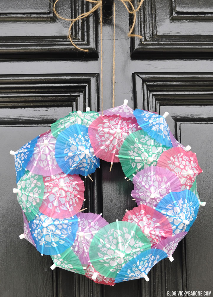 DIY Paper Umbrella Wreath   Vicky Barone