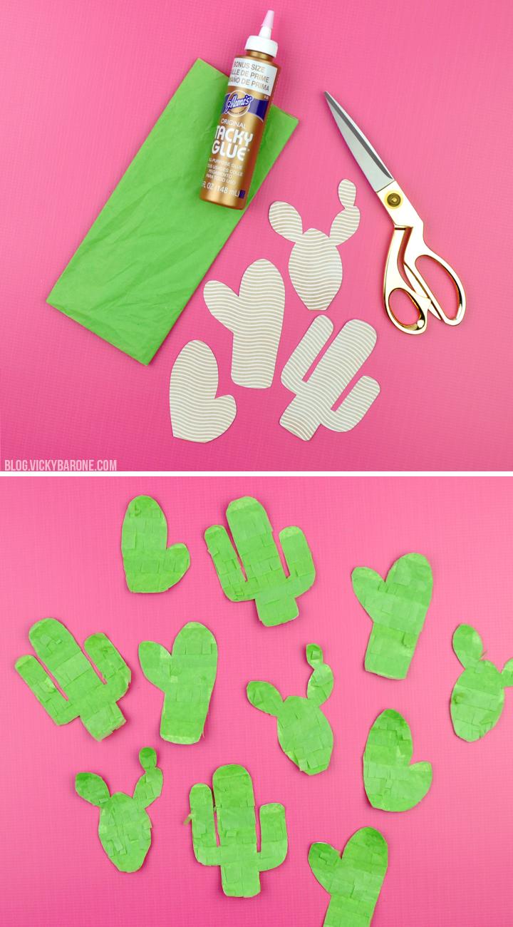 DIY Cactus Piñata Garland | Vicky Barone
