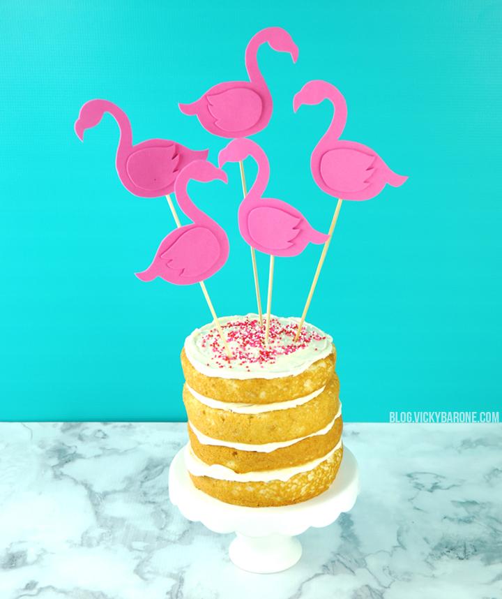 DIY Flamingo Cake Topper | Vicky Barone