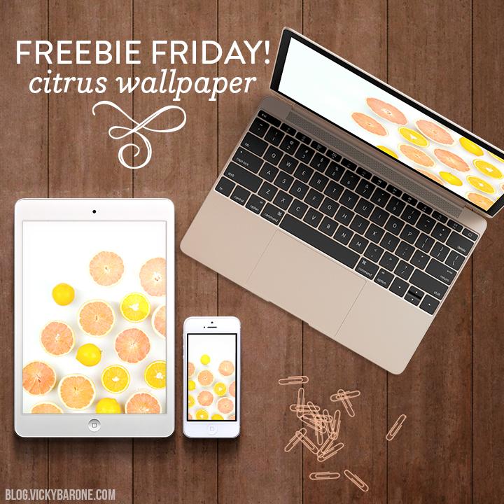 Freebie Friday: Citrus Wallpaper