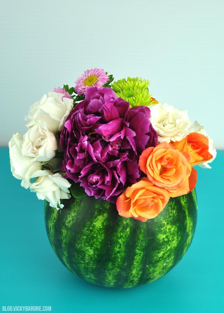 DIY Fruit Vases | Watermelon Vase | Pineapple Vase Centerpiece | Vicky Barone