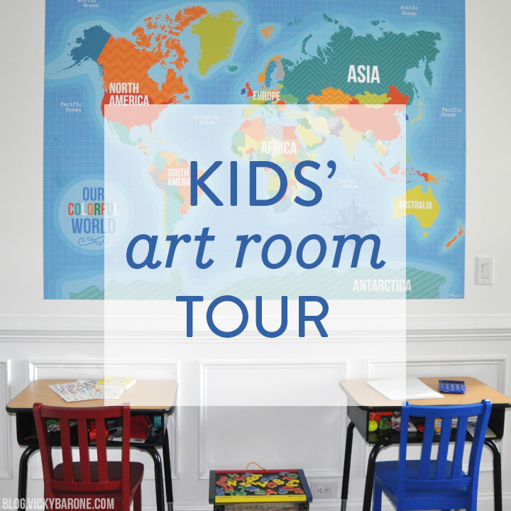 Kid's Art Room Tour