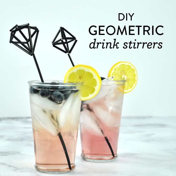 Geometric Drink Stirrers