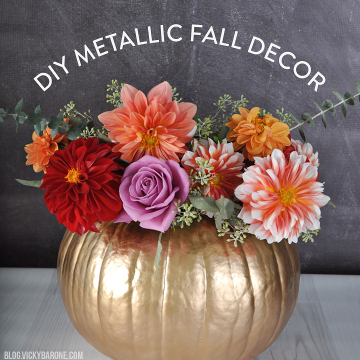 DIY Metallic Fall Decor