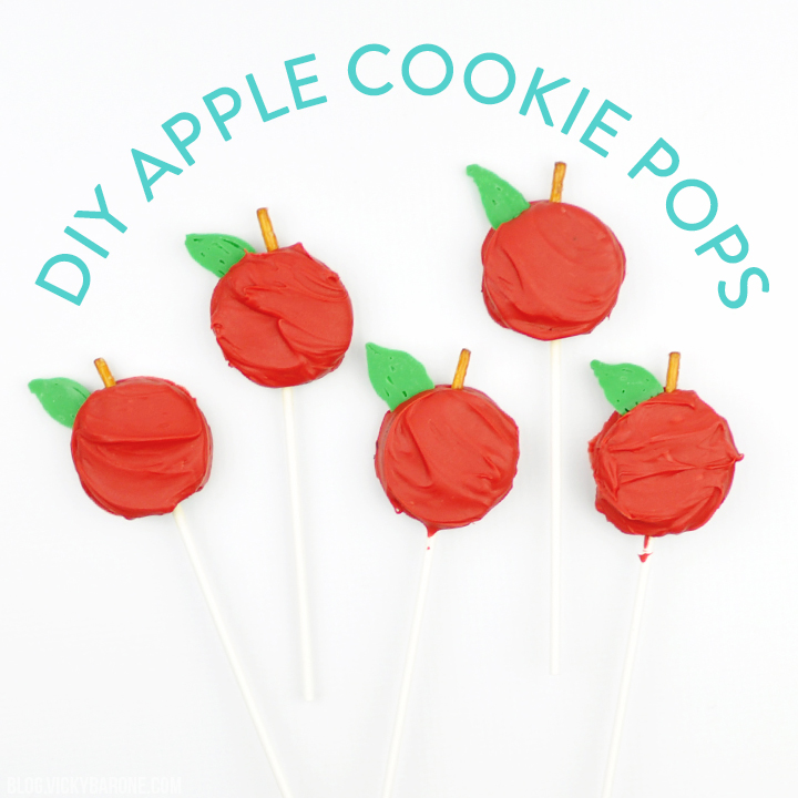 DIY Apple Cookie Pops