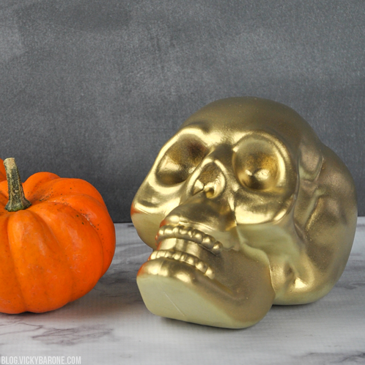 DIY Metallic Skull | Vicky Barone