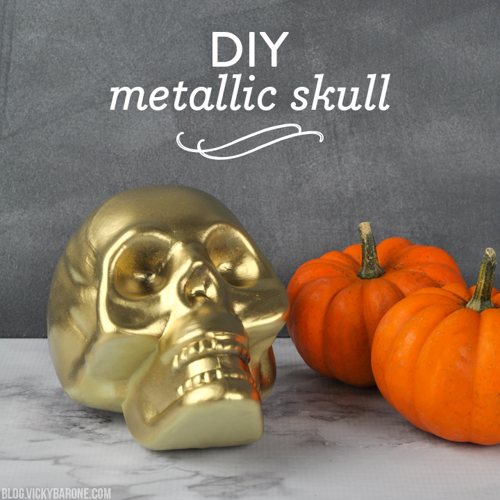 DIY Metallic Skull