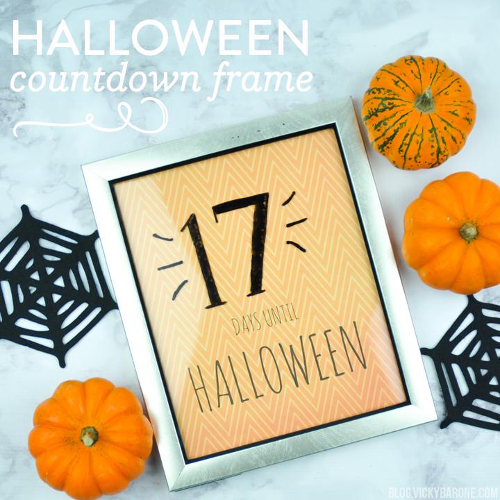 Halloween Countdown Frame