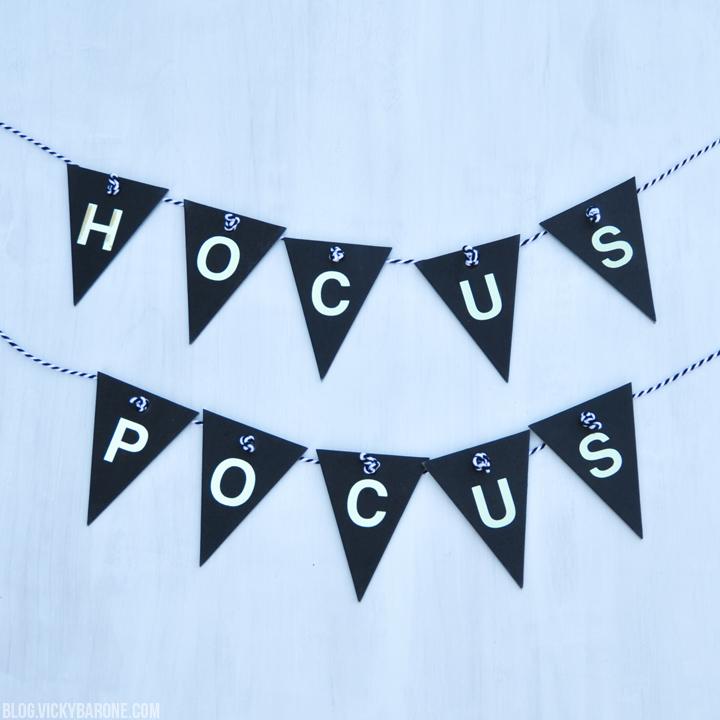 DIY Hocus Pocus Halloween Banner | Vicky Barone
