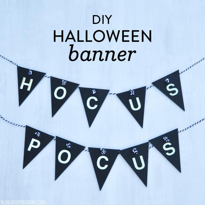 DIY Hocus Pocus Halloween Banner