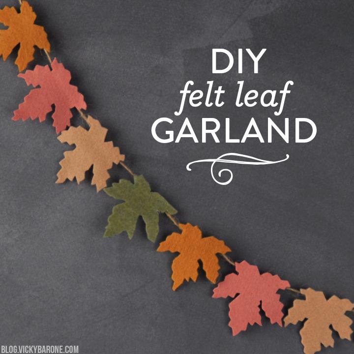 DIY Felt Leaf Garland