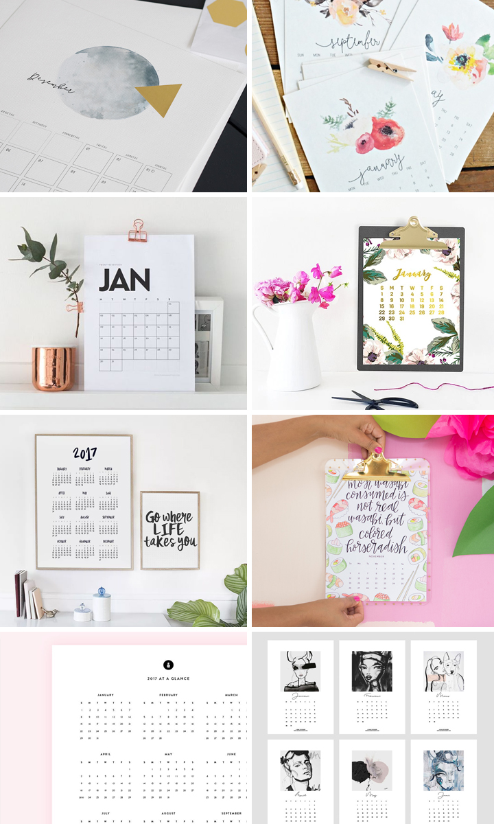 Free Printable 2017 Calendars Round Up | Vicky Barone