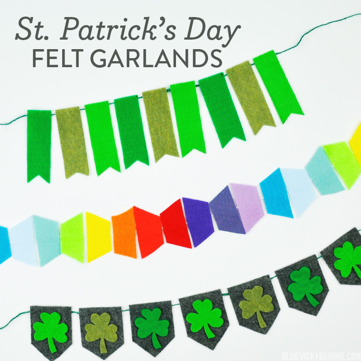 St. Patrick's Day Felt Garlands