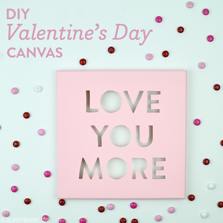 DIY Valentine's Day Canvas