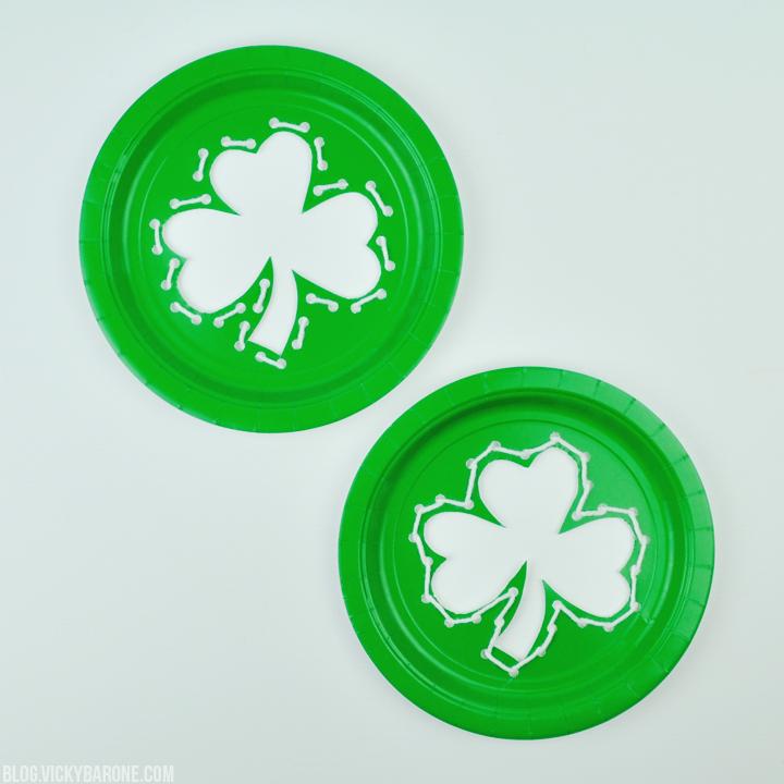 DIY Paper Plate Shamrocks | St. Patrick's Day | Vicky Barone