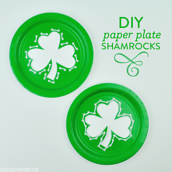 DIY Paper Plate Shamrocks