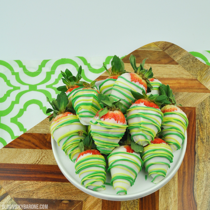 Chocolate Covered St. Patrick's Day Strawberries | Vicky Barone