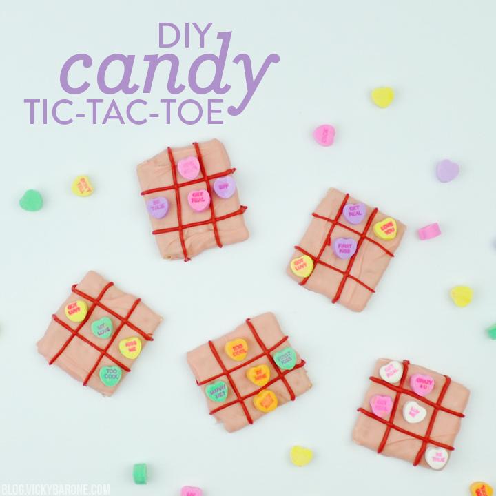 DIY Candy Tic Tac Toe
